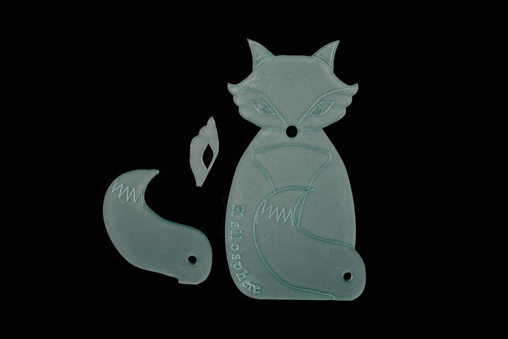 FOX ACRYLIC SEWING CRAFT TEMPLATE