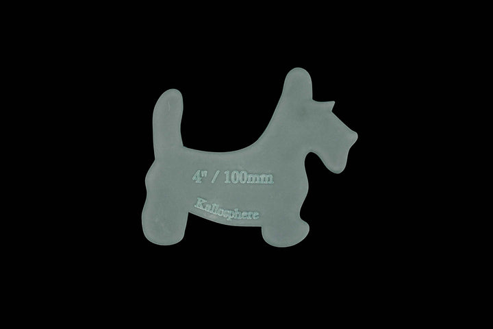 A CUTE MINI SCOTTY DOG ACRYLIC SEWING/CRAFT TEMPLATE from 3""