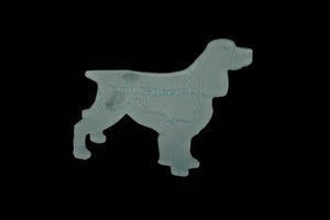 A JOLLY SPRINGER SPANIEL SEWING CRAFT ACRYLIC TEMPLATE from 3""