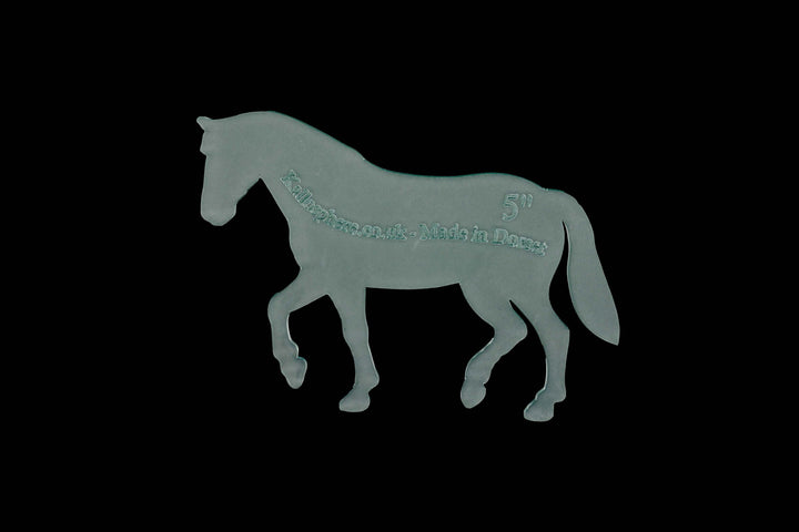 A HORSE ACRYLIC SEWING/CRAFT TEMPLATE from 6cm