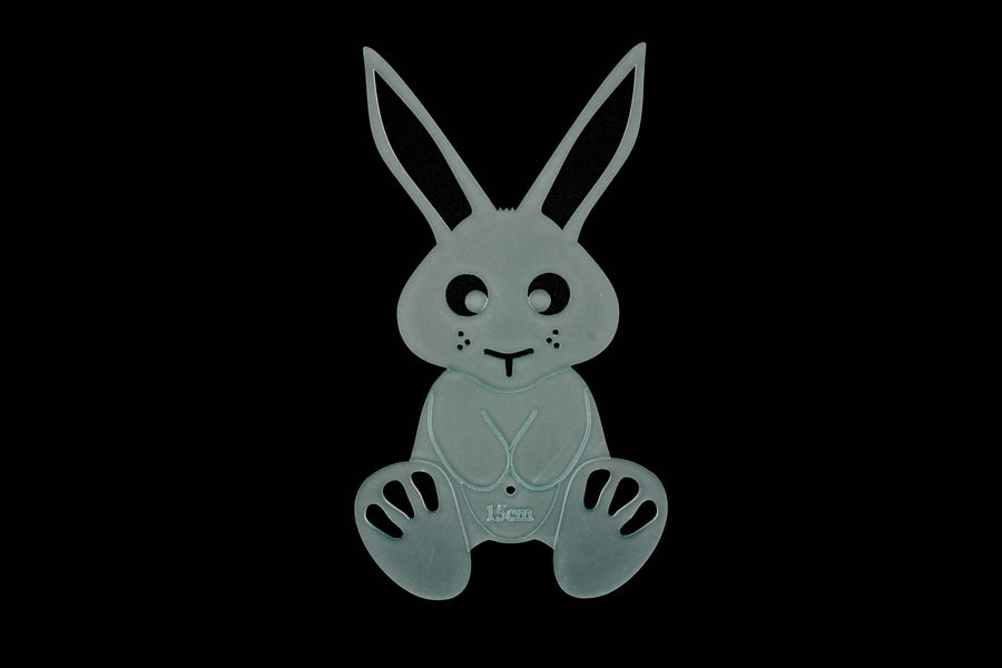 EASTER BUNNY ACRYLIC SEWING AND CRAFT TEMPLATE