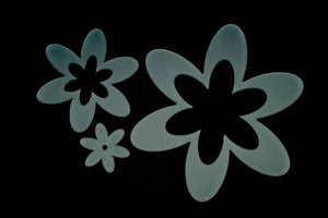 A SET OF FUN ACRYLIC FLOWER SEWING CRAFT TEMPLATES