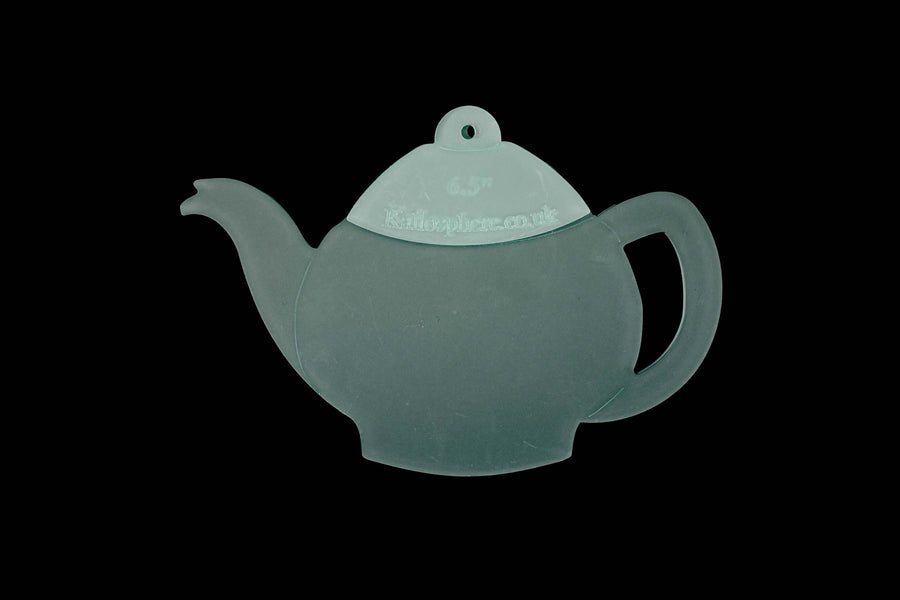 AN ACRYLIC TEAPOT AND TEA CUP CRAFT SEWING TEMPLATE