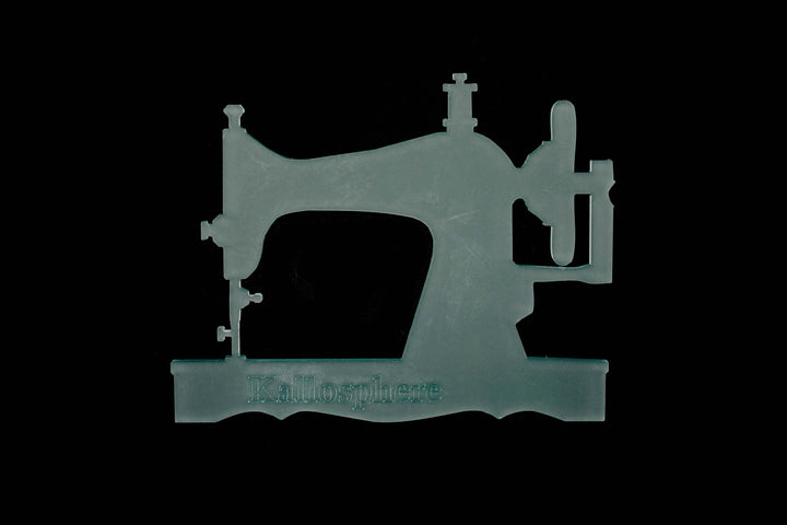 A BEAUTIFUL SEWING MACHINE ACRYLIC CRAFT TEMPLATE from 3""