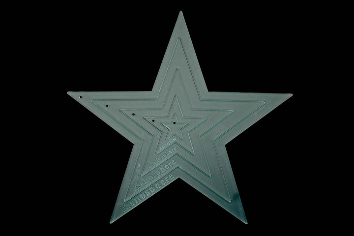 ACRYLIC APPLIQUÉ STAR SEWING CRAFT TEMPLATES