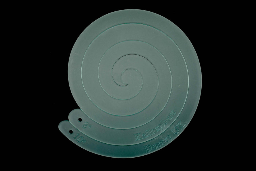 "10"" SPIRAL ACRYLIC SEWING/CRAFT TEMPLATE"