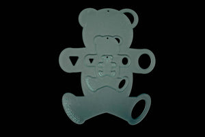 A SET OF ACRYLIC TEDDY BEAR SEWING CRAFT TEMPLATES