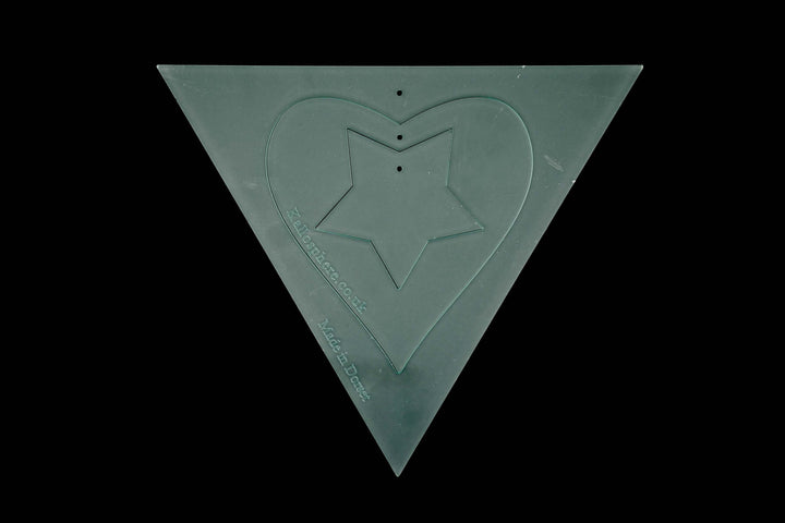 A BUNTING TRIANGLE, HEART AND STAR APPLIQUE CRAFT TEMPLATE