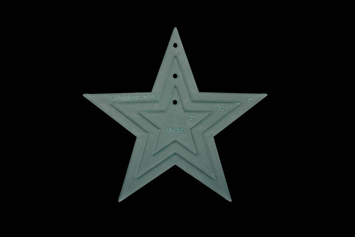 ACRYLIC APPLIQUÉ THREE STAR SEWING CRAFT TEMPLATES