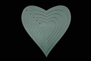 ACRYLIC APPLIQUÉ HEART SEWING CRAFT TEMPLATES