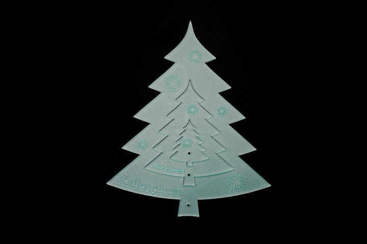 A SET OF ACRYLIC CHRISTMAS TREE SEWING/CRAFT TEMPLATES