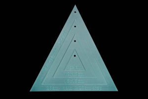 20X20CM (DROP) TRIANGLE ACRYLIC SEWING/CRAFT TEMPLATE SET