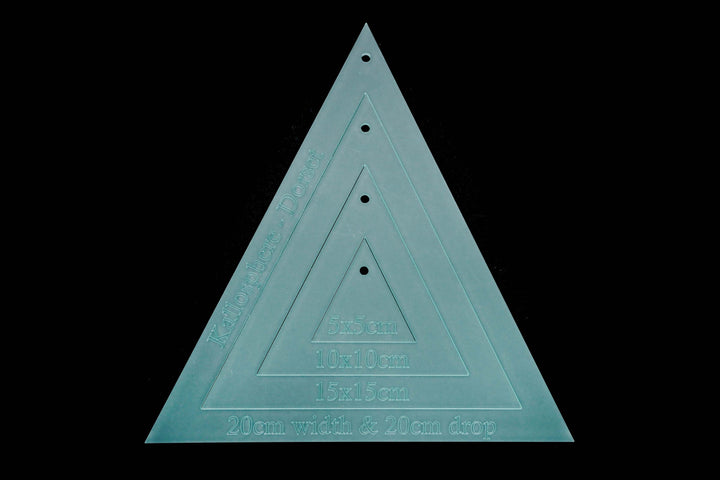 20X20CM TRIANGLE ACRYLIC SEWING/CRAFT TEMPLATE SET