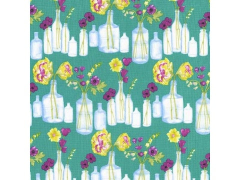 MICHAEL MILLER FABRIC - BOUQUET STRIPE - MERMAID
