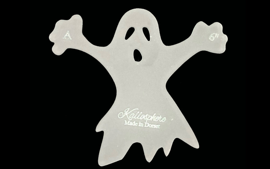 AN ACRYLIC SCARY GHOST 'A' SEWING/CRAFT TEMPLATE from 4""