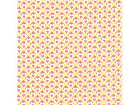 MICHAEL MILLER FABRIC - HEART O'MINE - YELLOW