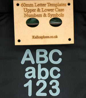 CURVED APPLIQUÉ LETTERS (upper and lower case) AND SYMBOLS AND NUMBERS SEWING/CRAFT TEMPLATES 6cm