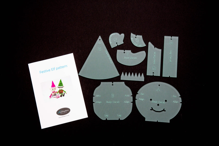 AN ACRYLIC ELF SEWING/CRAFT TEMPLATE KIT