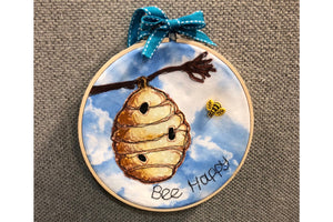 A BEEHIVE  ACRYLIC SEWING/CRAFT TEMPLATE from 6cm