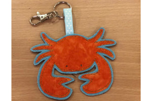 A CRAB  ACRYLIC SEWING/CRAFT TEMPLATE from 6cm