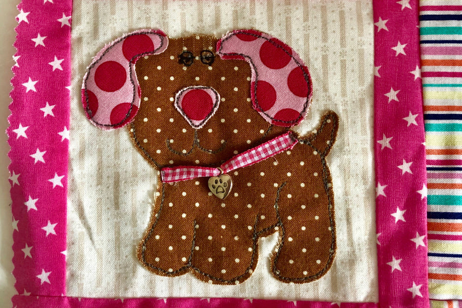 A CUTE PUPPY DOG SEWING/CRAFT TEMPLATE from 3""
