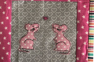 A MAJESTIC MOUSE ACRYLIC SEWING/CRAFT TEMPLATE