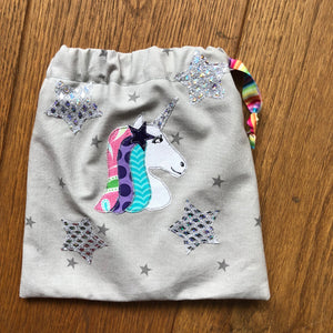 UNICORN HEAD WITH SEPARATE STAR AND MANE SEWING/CRAFT TEMPLATE
