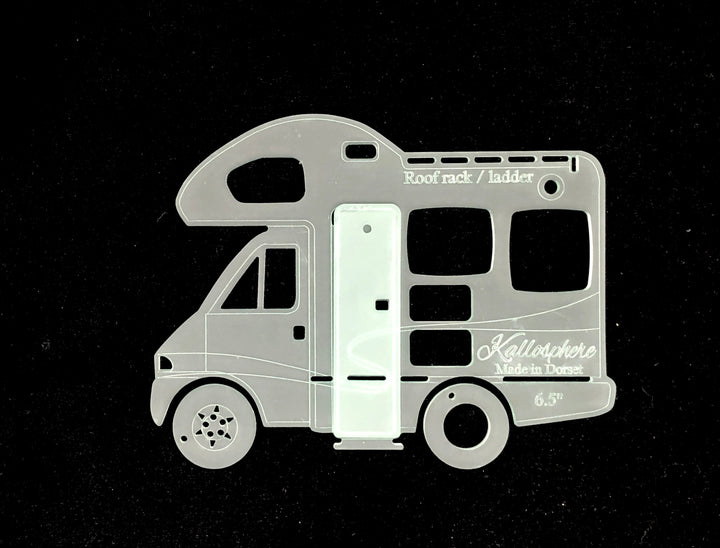 A FUN MOTORHOME ACRYLIC SEWING/CRAFT TEMPLATE