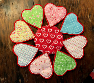 A SET OF THREE HEART SEWING/CRAFT TEMPLATES