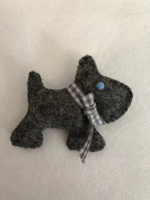 A CARTOON SCOTTY DOG  ACRYLIC SEWING/CRAFT TEMPLATE from 6cm