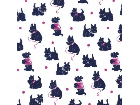 MICHAEL MILLER - BESPOKE SCOTTIES fabric - JEWEL