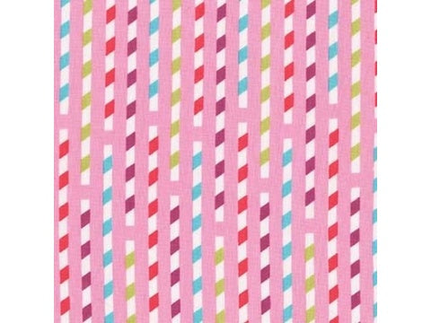 MICHAEL MILLER FABRIC - SIPPY STRAWS - STRAWBERRY