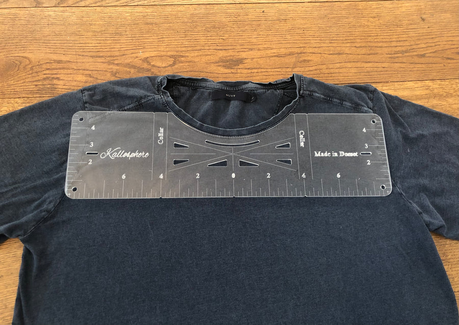 Acrylic T-shirt alignment ruler/ measuring tool