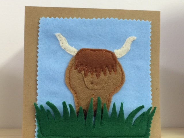 A HIGHLAND COW ACRYLIC SEWING/CRAFT TEMPLATE