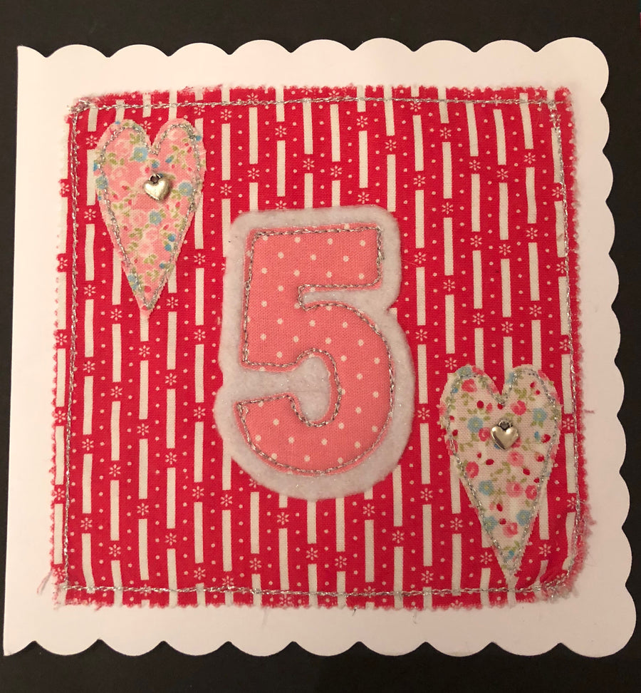 ACRYLIC APPLIQUÉ NUMBER SEWING/CRAFT TEMPLATES