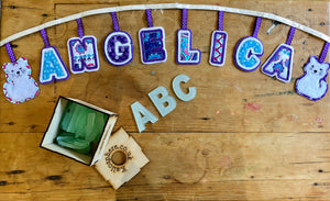 INDIVIDUAL APPLIQUÉ LETTERS AND NUMBERS SEWING/CRAFT TEMPLATES