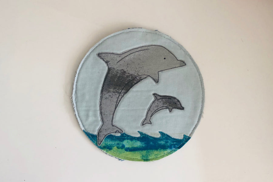 A DOLPHIN ACRYLIC SEWING/CRAFT TEMPLATE from 6cm