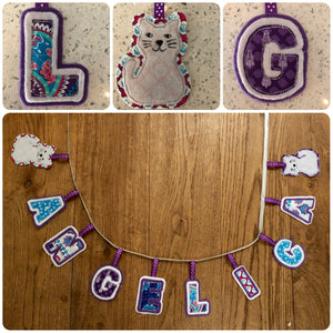 APPLIQUÉ LETTERS, UPPER AND LOWER CASE SEWING/CRAFT TEMPLATES 2""