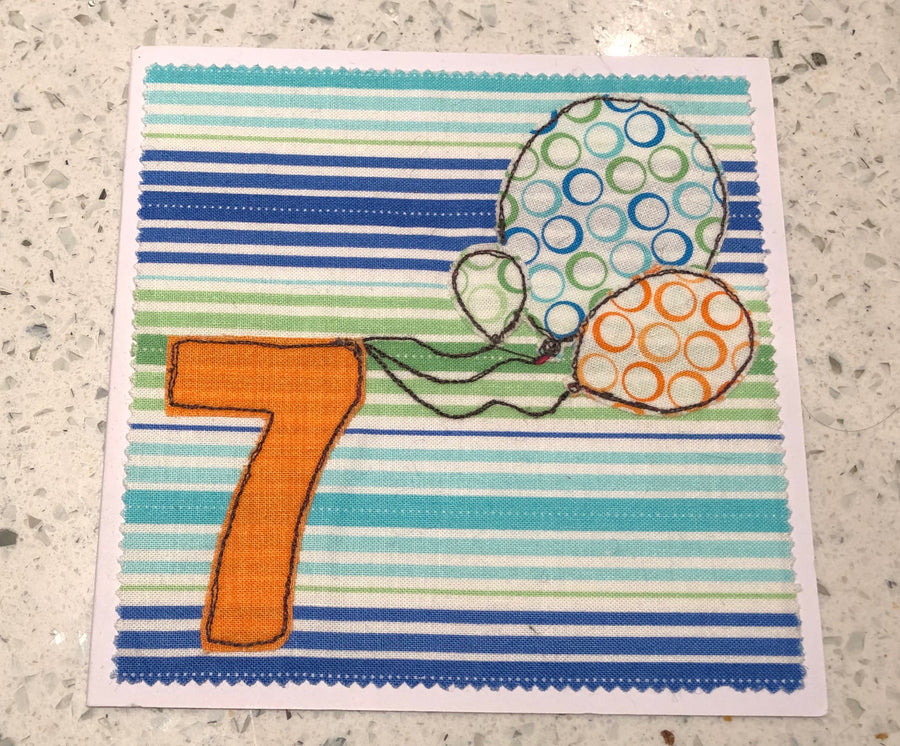 ACRYLIC APPLIQUÉ NUMBER SEWING/CRAFT TEMPLATES - 6cm