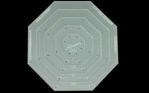 A SET OF SIX ACRYLIC OCTAGON QUILTING TEMPLATES