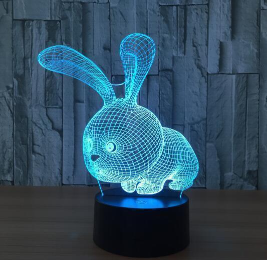 Color Changing 3D Illusion Lamp