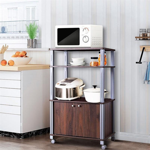 Portable Kitchen Cart Microwave Stand Island