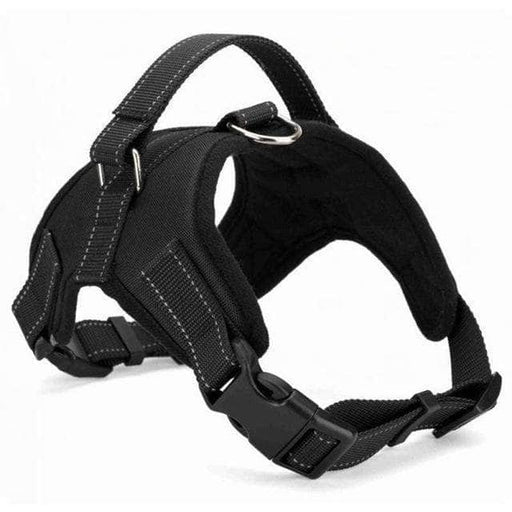 black easy pull dog harness