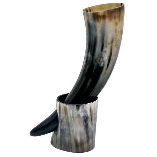 Viking Drinking Horn Cup And Mug With Stand