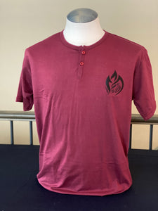 Maroon Two Button T-shirt