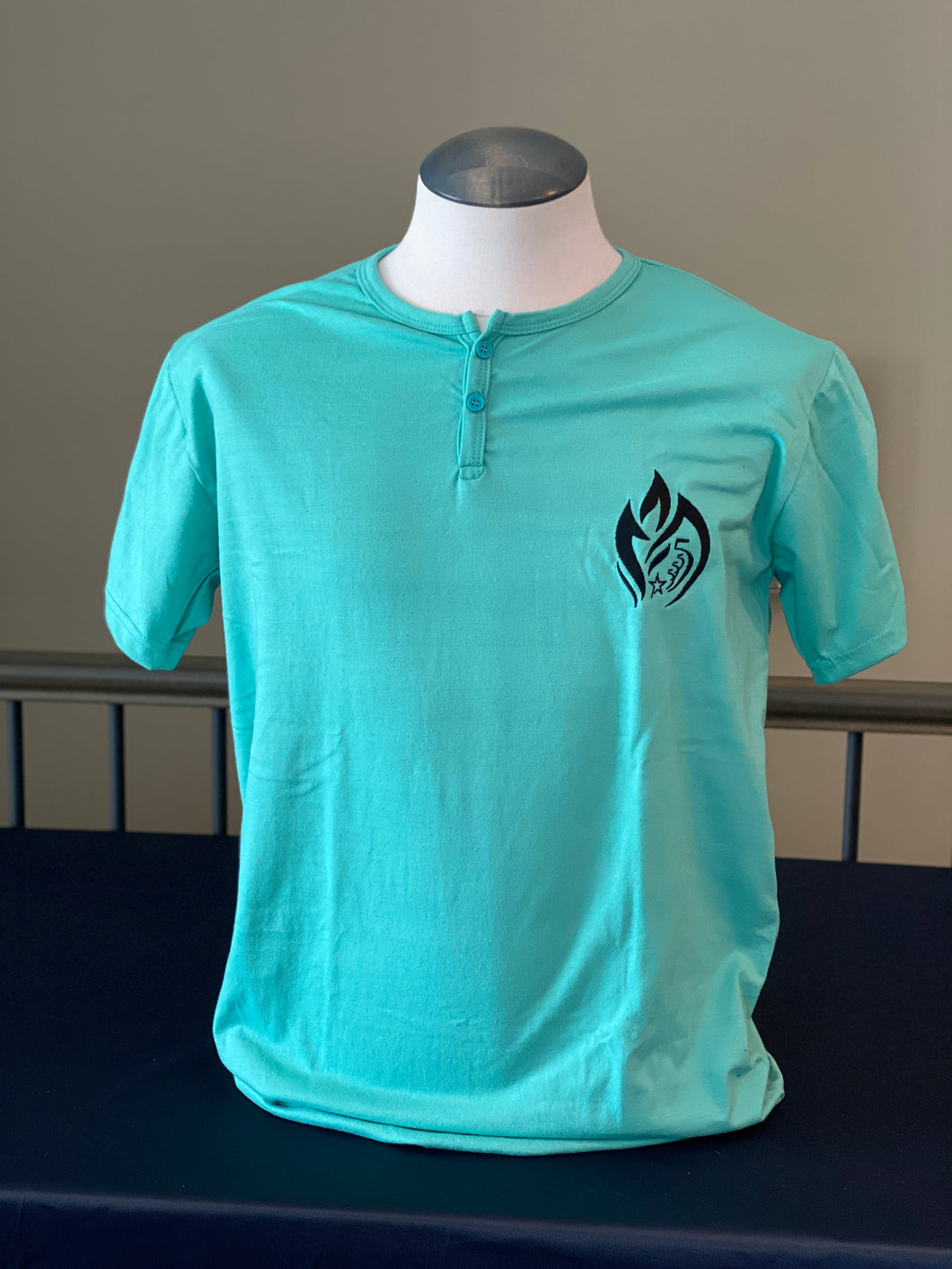Mint Two Button T-shirt