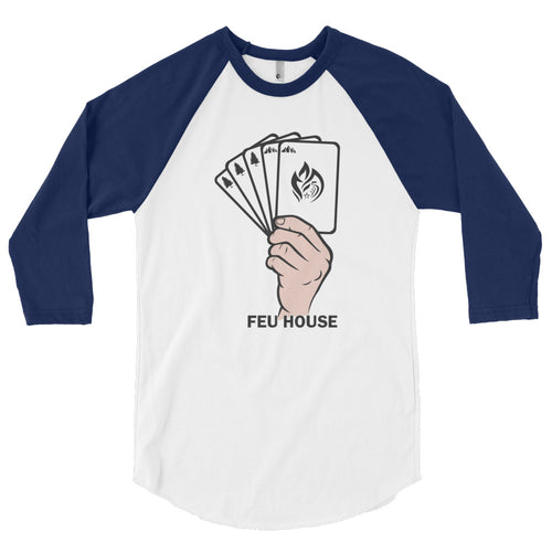 3/4 sleeve raglan shirt - Feu House