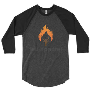 "3/4 sleeve raglan shirt ""Burning Tree"""