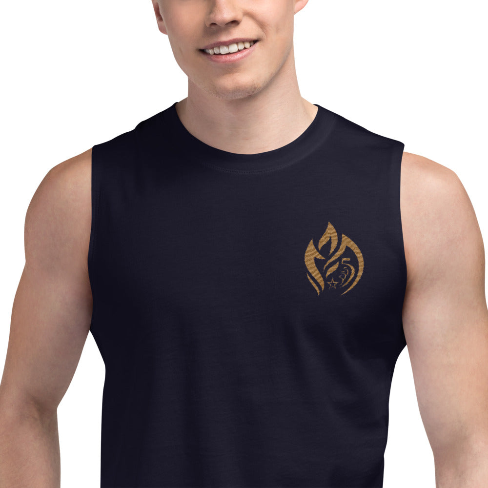 Muscle Shirt Embroidered