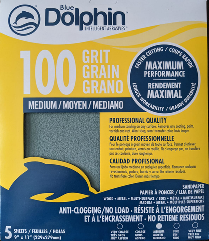 Blue Dolphin Anti-Clogging Sandpaper (5 Pack)